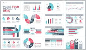 Presentation Template design with infographic. Presentation Template design. Business data graphs. Vector financial and marketing charts Stock Photography