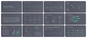 Presentation Template design with infographic. Presentation Template design. Business data graphs. Vector financial and marketing charts Stock Image
