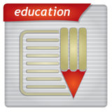 Presentation template - education concept Stock Photo