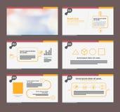 Presentation template flat design set. Royalty Free Stock Photo