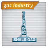 Presentation template - gas industry Royalty Free Stock Images
