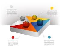 Presentation template hexagonal graph. Pie chart d Royalty Free Stock Photography