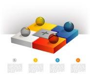 Presentation template hexagonal graph. Pie chart diagram. Stock Images
