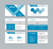 Presentation template with info graphic elements Royalty Free Stock Images