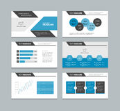 Presentation template with info graphic elements Stock Photos
