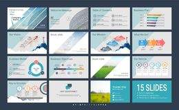 Presentation template with infographic elements. Presentation template with infographic elements, designs cover all styles and creative to formal and business Royalty Free Stock Photos