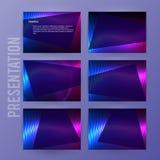 Presentation template powerpoint background aurora boreal neon e. Business templates for multipurpose presentation slides. Easy editable vector EPS 10 layout Stock Illustration