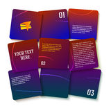 Presentation template purple gradient square displacement Royalty Free Stock Photo