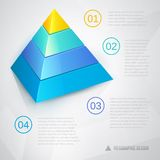 Presentation template with pyramid. Al diagram ant text, vector eps10 illustration Royalty Free Stock Photography