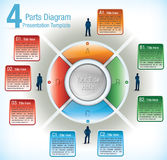 Presentation template of segmented wheel Stock Photos