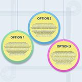 Presentation template with three options. Vector i Stock Photos