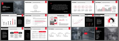 Presentation templates elements Royalty Free Stock Photo