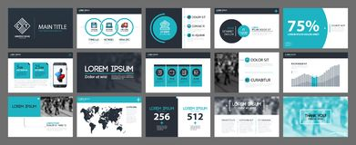 Presentation templates with infographics elements. Can be used for annual reports and web design. Presentation templates with infographics elements. Useful for Royalty Free Illustration