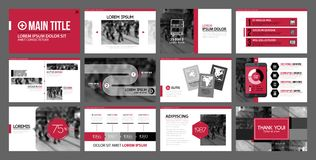 Presentation templates with infographics elements. Can be used for annual reports and web design. Presentation templates with infographics elements. Useful for Vector Illustration