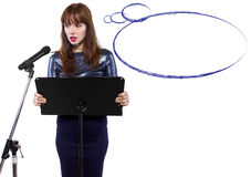 Presentation with Thought Bubbles Stock Photography