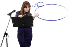 Presentation with Thought Bubbles Royalty Free Stock Photography