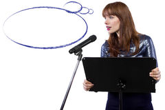 Presentation with Thought Bubbles Stock Photo