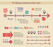 Presentation timeline chart elements Stock Photography