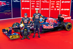 Presentation of the Toro Rosso STR7, 2012 Royalty Free Stock Photography