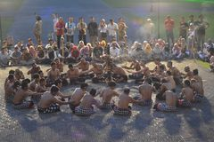Balinese traditional dance called Kecak dance royalty free stock photography