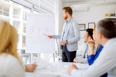 Presentation and training in business office royalty free stock image