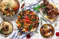 Presentation of variety georgian cuisine Stock Photography