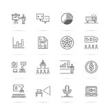 Presentation vetor line icons Royalty Free Stock Photo