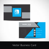 Presentation of visiting card design Royalty Free Stock Image
