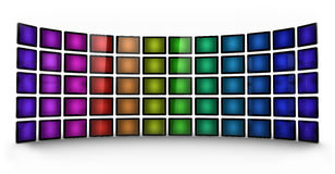 Presentation wall - coloured Stock Photo