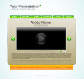 Presentation website template Royalty Free Stock Images