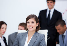Presentation of a young business team Royalty Free Stock Images
