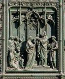 Presentationen av Jesus på templet Arkivfoto