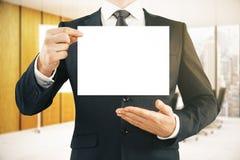 presentationen för begreppet för bakgrund 3d isolerade framförde illustrationen white Arkivbild