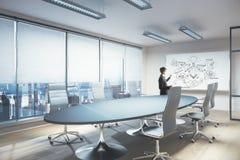 presentationen för begreppet för bakgrund 3d isolerade framförde illustrationen white Arkivfoton