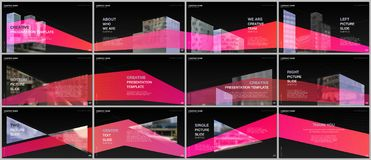 Presentations design, portfolio vector templates with architecture design. Abstract modern architectural background. Multipurpose template for presentation vector illustration