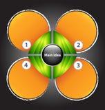 Presentationsmall med fyra textaskar Royaltyfri Bild