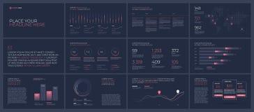 Presentationsmallbeståndsdelar stock illustrationer