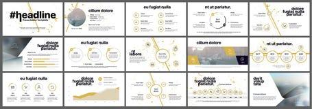 Presentationsmallinfographics i guling Arkivfoton