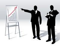 presentationsomsättning vektor illustrationer