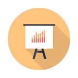 Presentationsskärm med isolerade stångdiagram Royaltyfri Foto