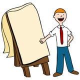 Presentatore dell'uomo d'affari royalty illustrazione gratis