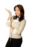 Presentatore femminile di affari Fotografie Stock