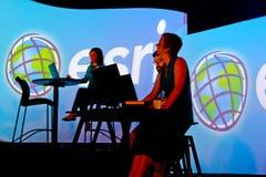 Presentatori al congresso 2010 dell'utente di ESRI immagine stock libera da diritti