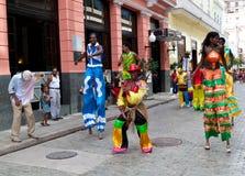 Presentatori della via a vecchia Avana immagini stock libere da diritti