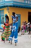 Presentatori della via a vecchia Avana fotografia stock libera da diritti