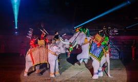 Presentazione 2012 dell'indicatore luminoso & del suono di Ayutthaya Fotografia Stock