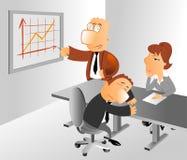 Presentazione con acuta di affari illustrazione vettoriale