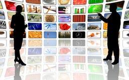 Presentazione concentrare di affari di multimedia Immagine Stock