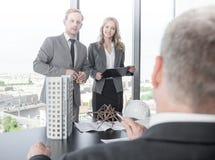 Presentazione degli architetti per gli investitori Immagine Stock Libera da Diritti