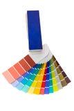 Presentazione dei colori differenti isolati su un fondo bianco Fotografia Stock Libera da Diritti